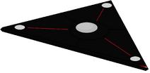 Hunter Killer Aerial Traingual black spacecraft
