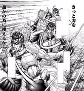 Shokichi attacking Joseph
