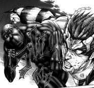 Terraformar dodging and punching Shokichi