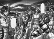 Akari and the main fighters of Annex I ready to fight
