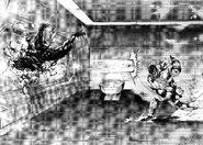 Shokichi defeating a Terraformar with a punch