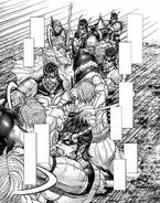 Joseph dodging Shokichi attacks