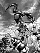 Orchid Mantis Terraformar about to kill Shokichi