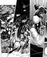 Shokichi defeating the Silk Moth Terraformar