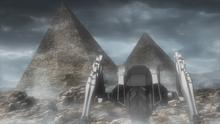 Pyramids on Mars surface