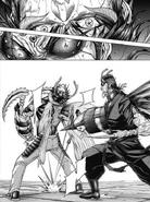 Akari dodging Shokichi attack