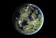Terraformed io in venus orbit