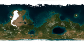 2D map of Mars terraformed