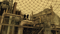 Weaver and Lucas in a dome in 2149