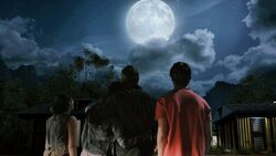 ShannonFamily gazing at the moon