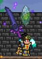 Utilizando la espada de la noche