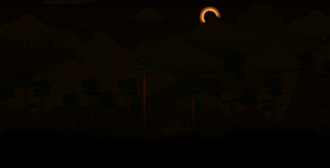 Eclipse solar paisaje