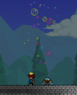 Máquina de burbujas uso