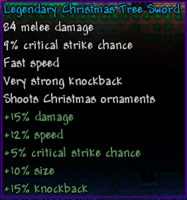 Legendary Christmas Tree Sword
