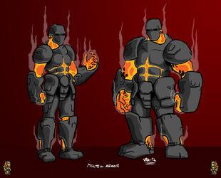 Terraria fan art molten armor by v pk-d54tlwz