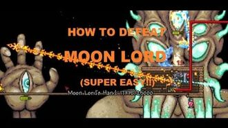 DEFEATING MOON LORD THE REALLY EASY WAY!!! (Terraria)