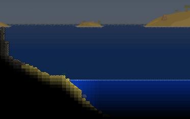 Krajobraz oceanu połączonego z The Crimson