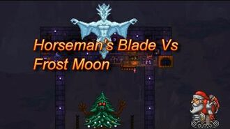Terraria, The Horseman's Blade vs The Frost Moon