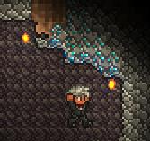 Diamante en una cueva