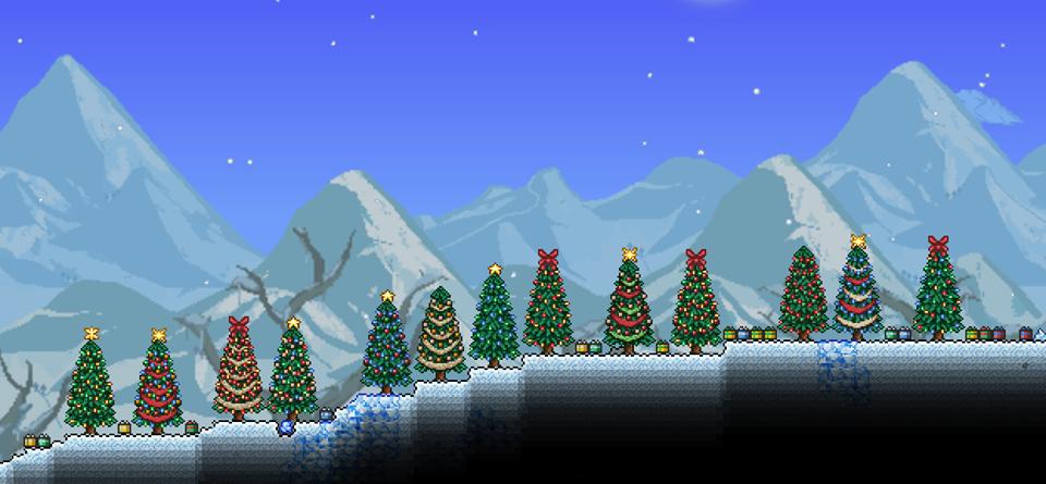 Terraria Christmas House.User Blog Sscrimsonwolf New Christmas Trees D Terraria