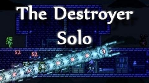 Terraria - The Destroyer solo, epic hardmode boss and..