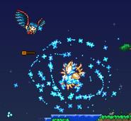 Guardián de polvo estelar atacando
