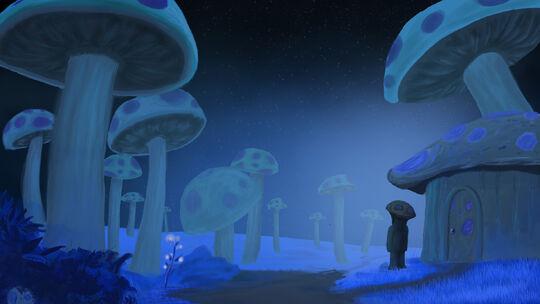 Terraria glowing mushrooms wallpaper by gturbo5-d6dvyxv