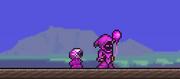 Usuario usando tinte violeta
