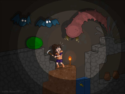 Terraria giant worm attack by satha-d64lghl