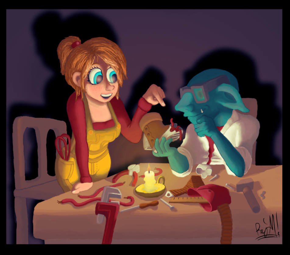 Tinkering With The Goblin By Greenscrapbot