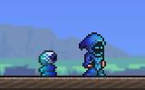Tinte flama azul visual