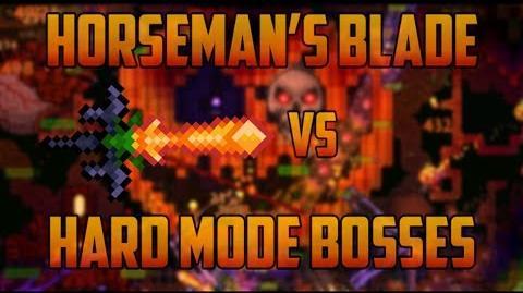 Terraria - Horseman's Blade Trick on Hardmode Bosses