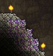 Amatista en una cueva