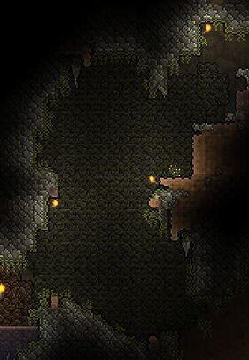 Grüne Moos Höhle