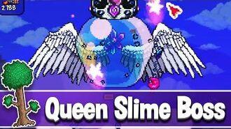 Queen Slime How to Summon Queen Slime in Terraria 1.4