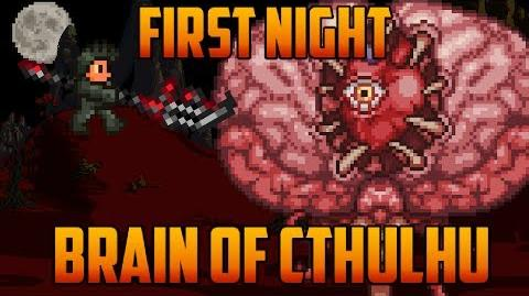 Terraria - Brain of Cthulhu on first Night Challenge