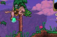 Slime rosa con el jugador