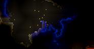 Паучье гнездо в грибном биоме