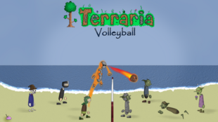 Terraria volleyball by kleggt-d3j8tui