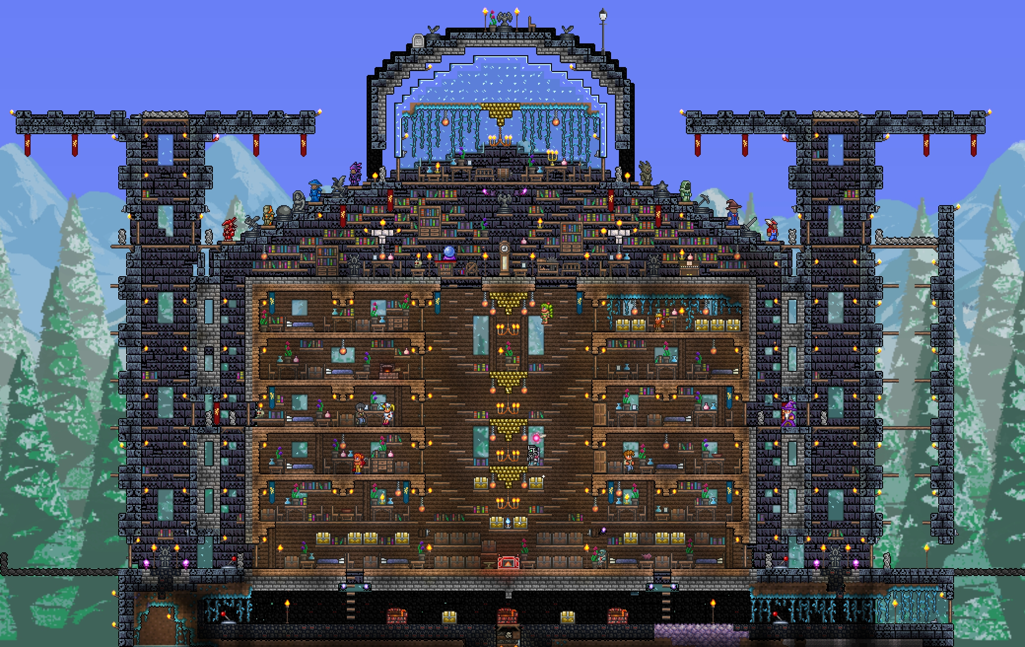 Terraria House With All Features
