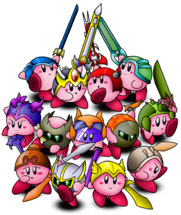 Terraria kirby in all armour by tytasmaniantiger-d4rjty2