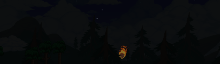 Падающий метеорит на фоне