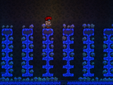 Glühender Pilz