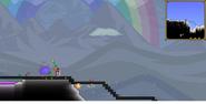 Rainbow slime in Hallow