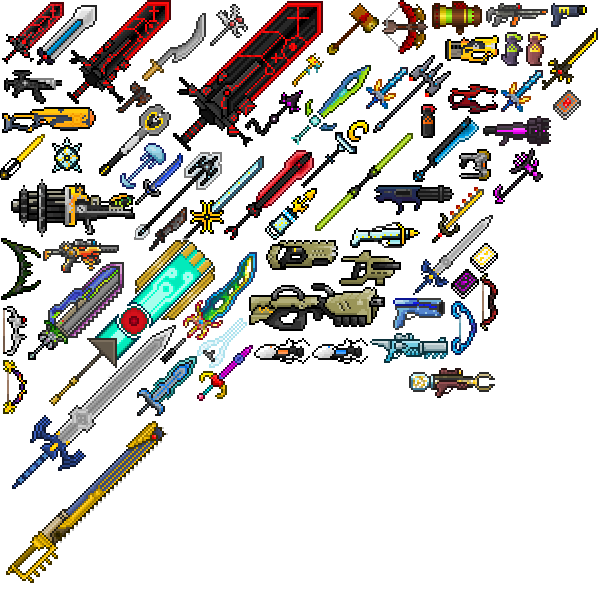 image all weapons png terraria wiki fandom powered by wikia