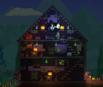 Terraria Christmas House.Spooky Wood Terraria Wiki Fandom Powered By Wikia