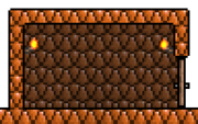 Copper Brick Wall-placed