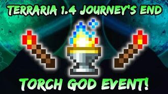 NEW Torch God EVENT! Terraria Journey's End! Torch God's Favor from Terraria 1.4 Mini Boss Event