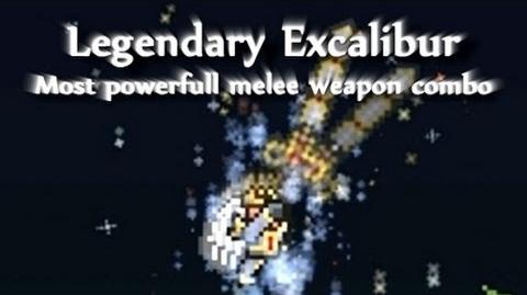Terraria - Best weapon combo Legendary Excalibur Hallowed armor