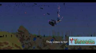 Terraria Castleds Content mod Beta footage of Corpse Pickup Truck boss in Expert Mode